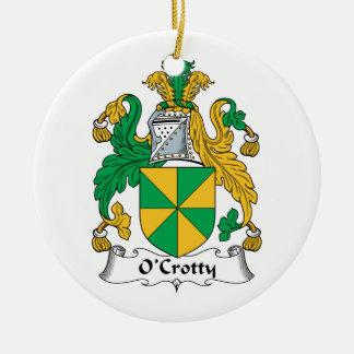Escudo de la familia de O Crotty Ornamento De Navidad