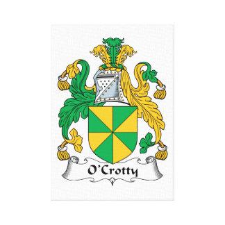 Escudo de la familia de O Crotty Lona Envuelta Para Galerías