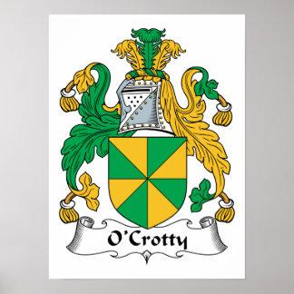 Escudo de la familia de O Crotty Posters