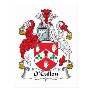 Escudo de la familia de O Cullen Tarjeta Postal