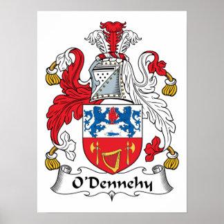 Escudo de la familia de O Dennehy Posters