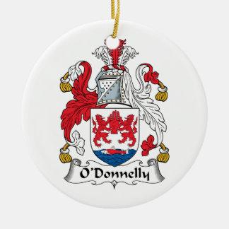 Escudo de la familia de O Donnelly Ornamento De Navidad