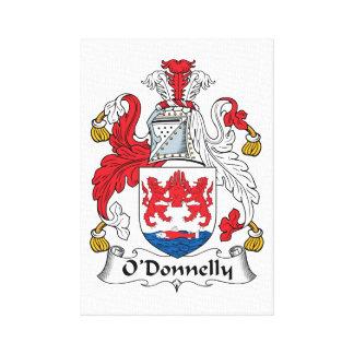 Escudo de la familia de O Donnelly Impresiones En Lienzo Estiradas