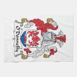 Escudo de la familia de O Donnelly Toallas De Cocina
