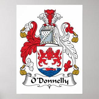 Escudo de la familia de O Donnelly Posters