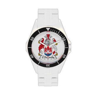 Escudo de la familia de O Donnelly Reloj
