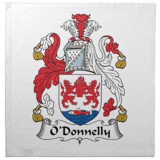 Escudo de la familia de O Donnelly Servilletas Imprimidas