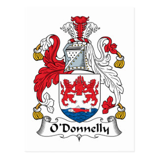 Escudo de la familia de O Donnelly Tarjetas Postales