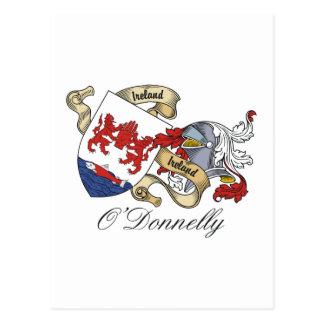 Escudo de la familia de O Donnelly Tarjeta Postal