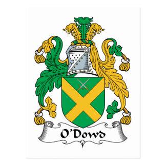 Escudo de la familia de O Dowd Tarjeta Postal