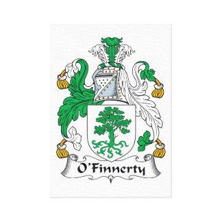 Escudo de la familia de O Finnerty Impresión En Lienzo Estirada