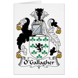 Escudo de la familia de O Gallagher Tarjetas
