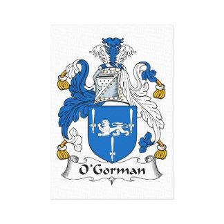 Escudo de la familia de O Gorman Lona Envuelta Para Galerias