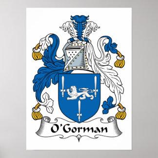Escudo de la familia de O Gorman Posters