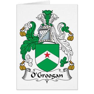 Escudo de la familia de O Groogan Felicitacion
