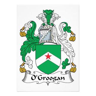 Escudo de la familia de O Groogan Invitaciones Personales