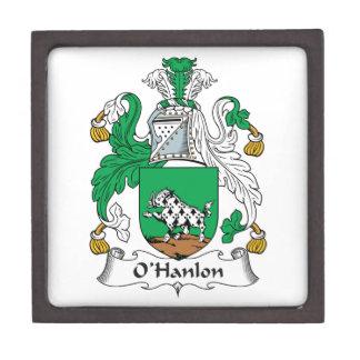 Escudo de la familia de O Hanlon Cajas De Recuerdo De Calidad