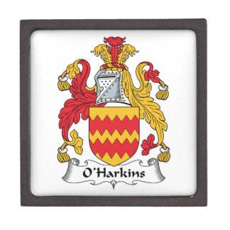 Escudo de la familia de O Harkins Caja De Joyas De Calidad