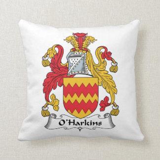 Escudo de la familia de O Harkins Almohada