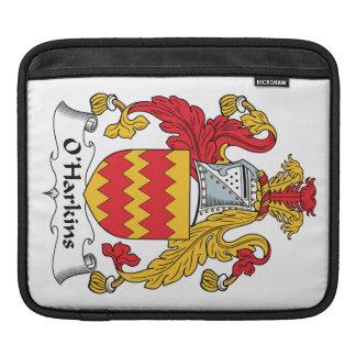 Escudo de la familia de O Harkins Fundas Para iPads