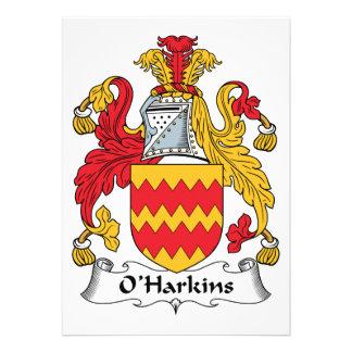 Escudo de la familia de O Harkins Comunicado Personal