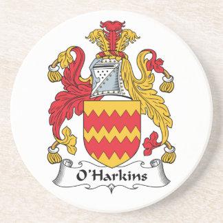Escudo de la familia de O Harkins Posavasos Manualidades