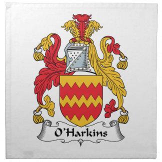 Escudo de la familia de O Harkins Servilleta