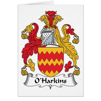 Escudo de la familia de O Harkins Tarjeta