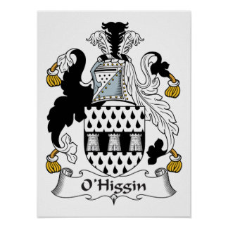 Escudo de la familia de O Higgin Impresiones