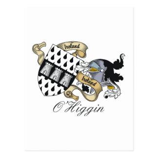 Escudo de la familia de O Higgin Tarjetas Postales