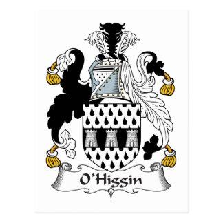 Escudo de la familia de O Higgin Postales