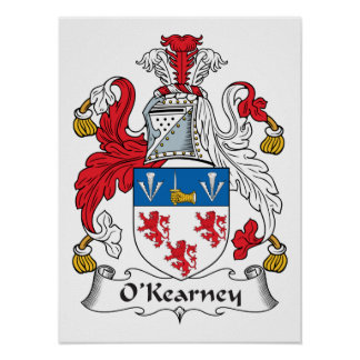 Escudo de la familia de O Kearney Poster