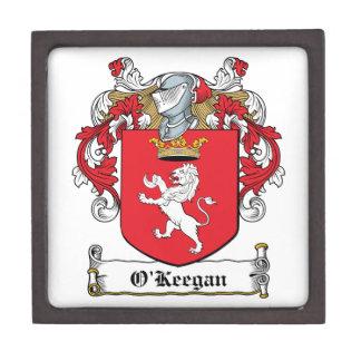 Escudo de la familia de O Keegan Cajas De Regalo De Calidad