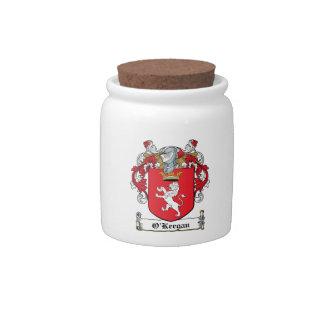 Escudo de la familia de O Keegan Jarras Para Caramelos