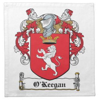 Escudo de la familia de O Keegan Servilleta De Papel
