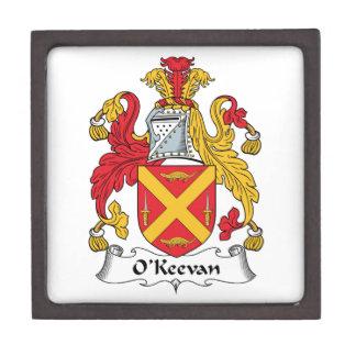 Escudo de la familia de O Keevan Caja De Recuerdo De Calidad