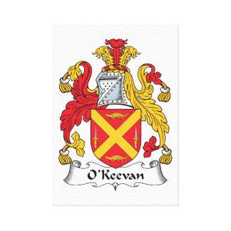 Escudo de la familia de O Keevan Impresión En Lona