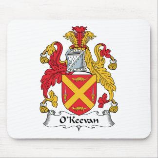 Escudo de la familia de O Keevan Tapete De Ratón