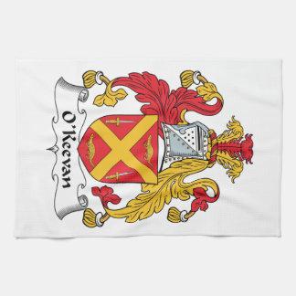 Escudo de la familia de O Keevan Toalla De Mano