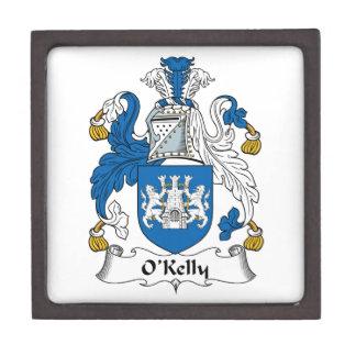 Escudo de la familia de O Kelly Caja De Recuerdo De Calidad