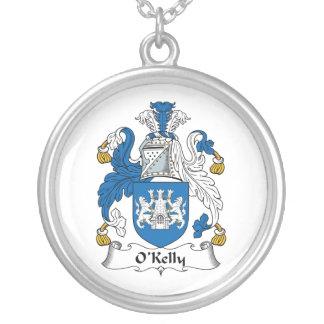 Escudo de la familia de O Kelly Pendiente Personalizado