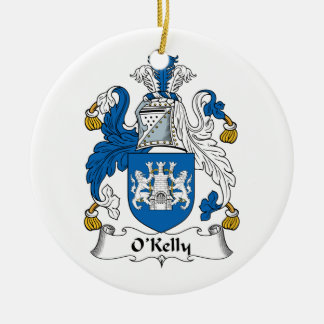 Escudo de la familia de O Kelly Ornamentos De Reyes