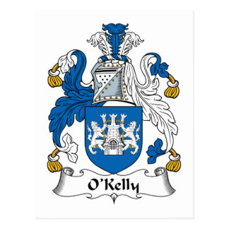 Escudo de la familia de O Kelly Postal