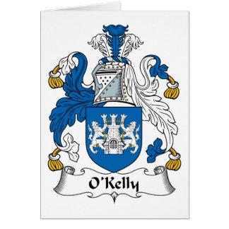 Escudo de la familia de O Kelly Tarjeta