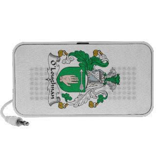 Escudo de la familia de O Loughnan Altavoces De Viajar
