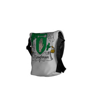 Escudo de la familia de O Loughnan Bolsa De Mensajeria