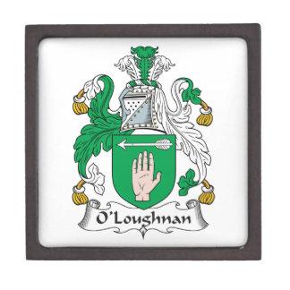 Escudo de la familia de O Loughnan Cajas De Joyas De Calidad