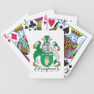 Escudo de la familia de O Loughnan Baraja Cartas De Poker