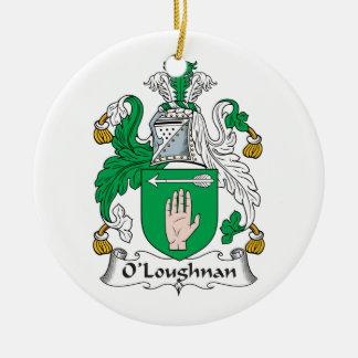 Escudo de la familia de O Loughnan Ornamente De Reyes