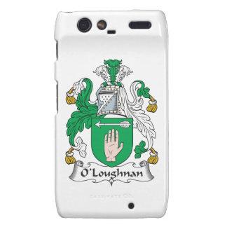Escudo de la familia de O Loughnan Droid RAZR Fundas